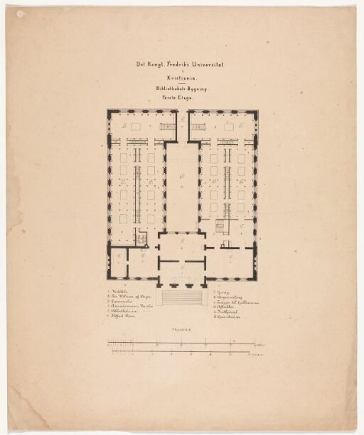 Bibliotektsbygningens første etasje
