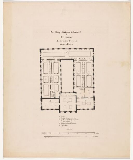 Bibliotektsbygningens andre etasje