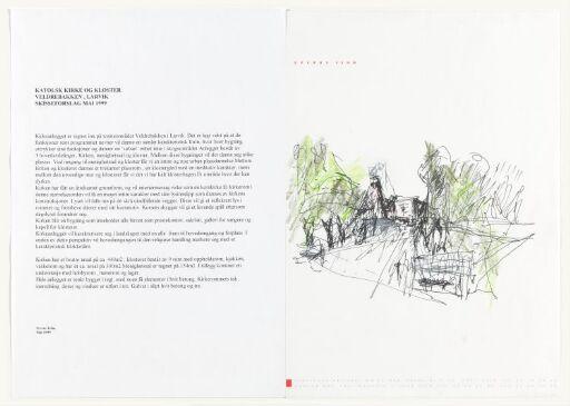 Skisseforslag til katolsk kirke og kloster, Larvik