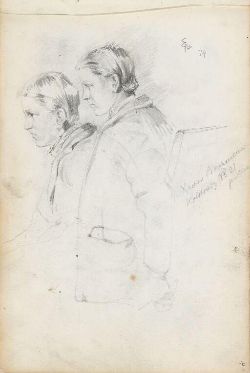 To unge menn i profil