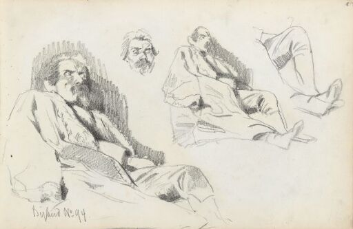 Studier av sovende mann