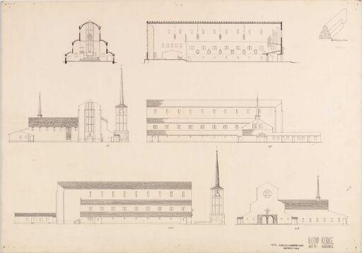 Katedral. Utkast til ny kirke i Bodø