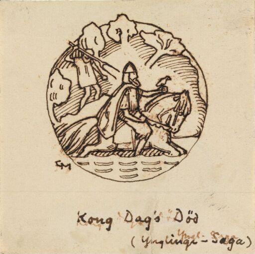 Kong Dags død