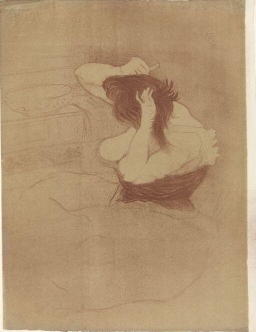 Kvinne som grer håret
