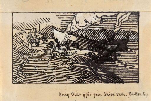Kong Olav gjør seg ferdig med fem skip