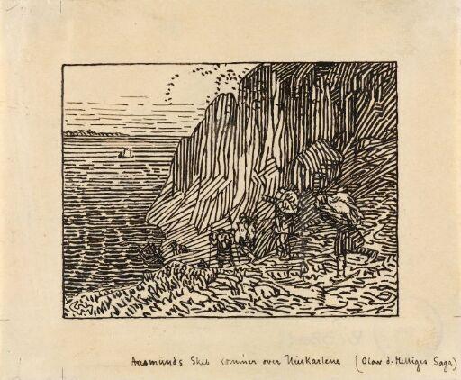 Åsmund Grankjellsson kommer over huskarene til Hårek på utværet