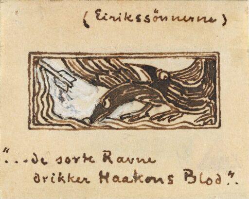 """""""Mørke ramner mesker seg med blod fra Håkon; våpnene ble farget, vet jeg, over havet"""""""