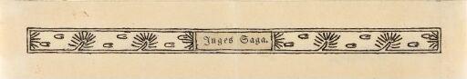 """Bord, """"Inges saga"""""""