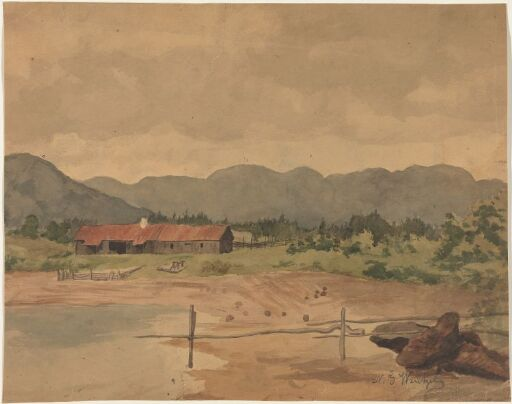 Landscape with a Barn