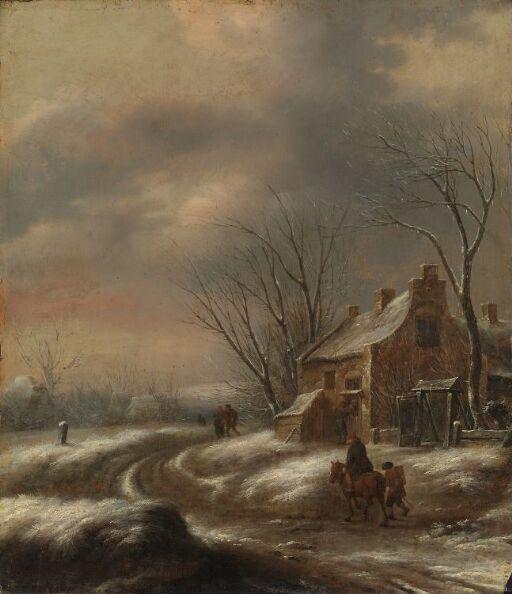 Hollandsk vinterlandskap