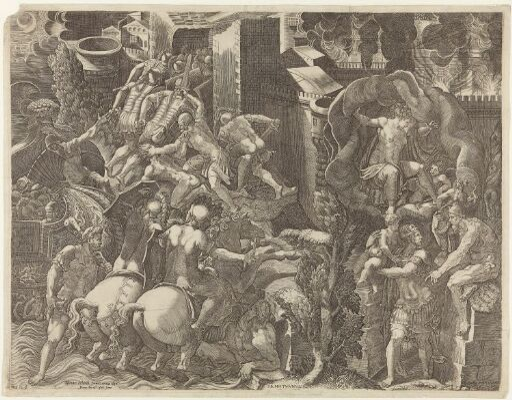 The Greeks entering Troy