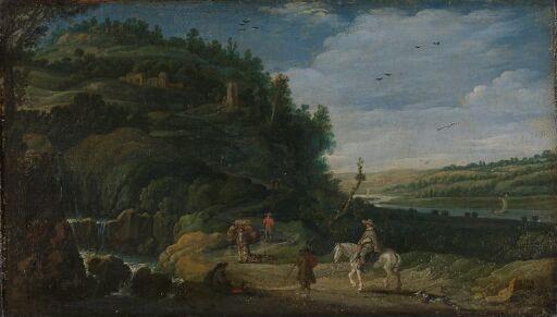 Landskap med rytter
