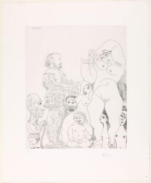 Autoportrait à la canne, avec comédien en costume, amour replet et femmes