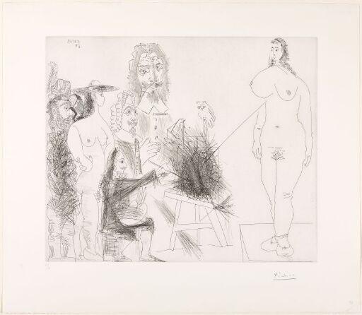 """Rundt """"Det ukjente mesterverk"""": Maler, modell, par og to malere"""