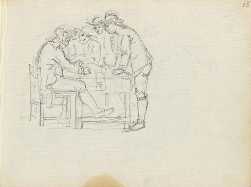 Four Men Around a Table