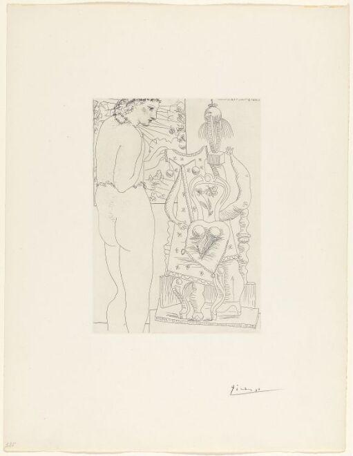 Marie-Thérèse considérant son effigie surréaliste sculpée