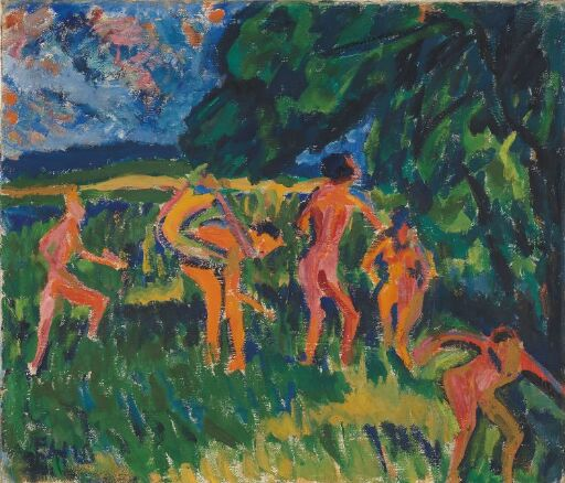 Bathers at the Forest Pond