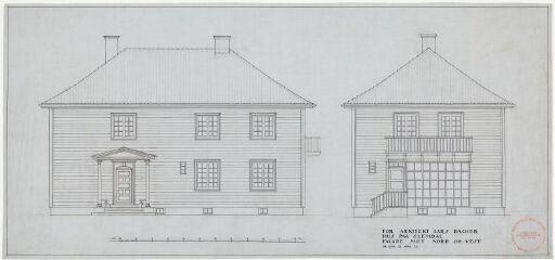 Arkitekt Lars Backers eget hus