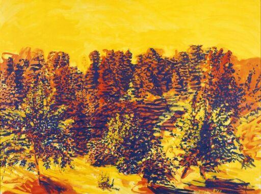 Orange landskap
