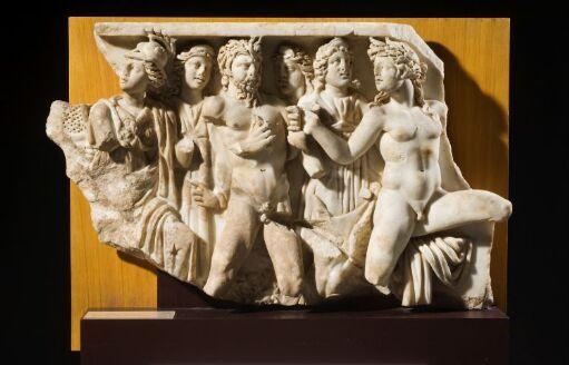 Lenosfragment med Marsyas-myten