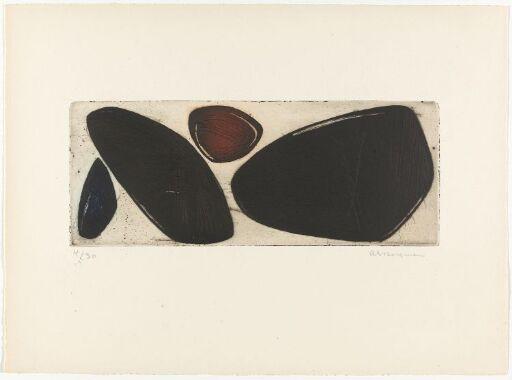 G 12-1953 Quatre formes pierres