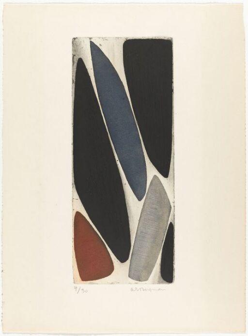 G 14-1953 Seks små vertikale steinformer