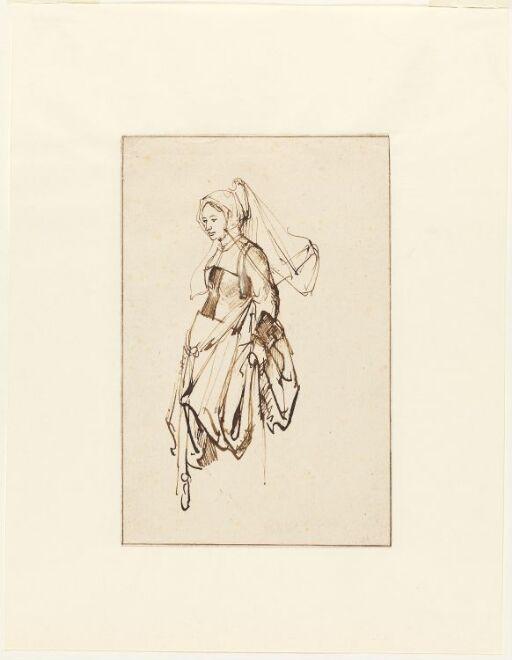 Ung kvinne. Etter Holbein