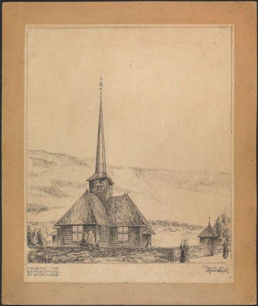 Forslag til gjenreisning av Kvam kirke