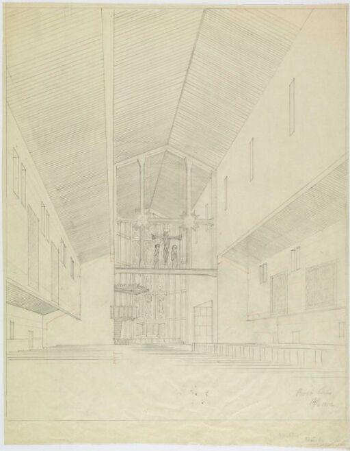 Interiør i Bodø kirke, sett mot koret