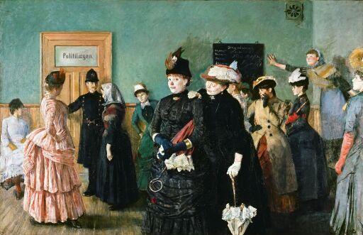 Albertine i politilegens venteværelse