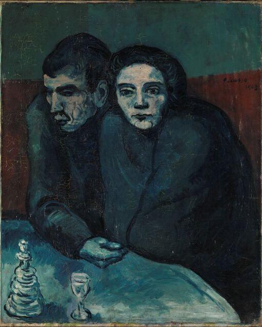 Poor Couple in a Café