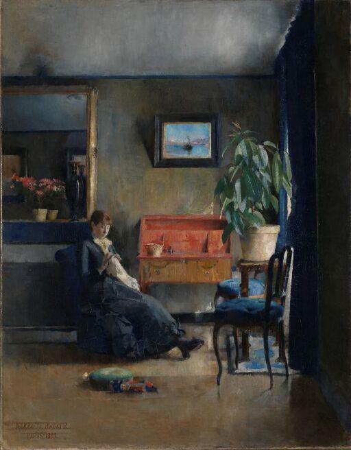 Blått interiør