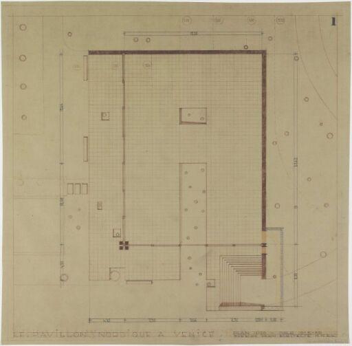 Den nordiske paviljongen i Venezia. Plan.