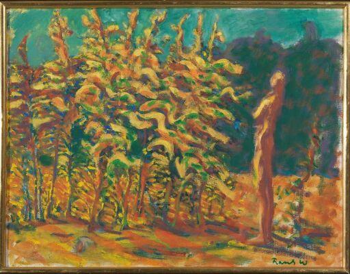 Mann og gule trær