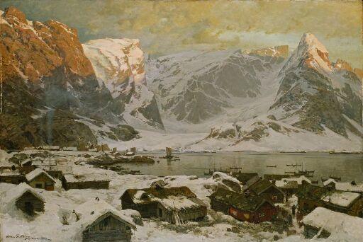View from Reine in Lofoten