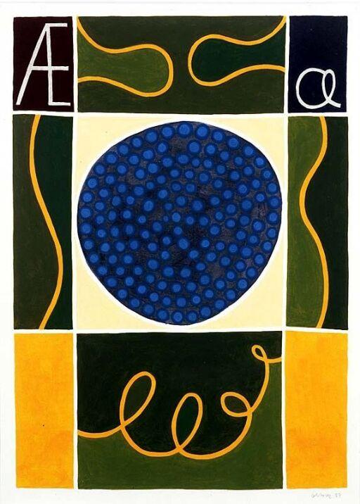 Æ (ill. til God dag, ABC med lesebok, Oslo 1988)