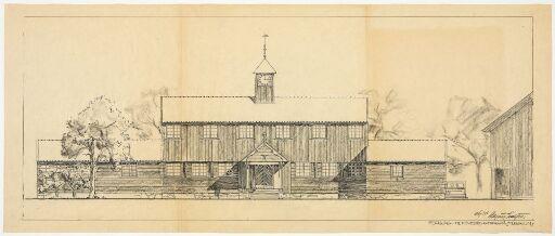 Hovedbygning på Fleskum for brukseier Frithjof Plahte
