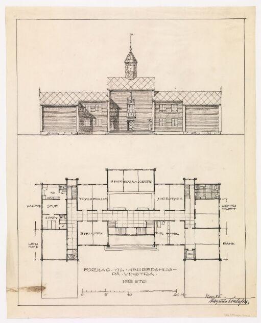 Forslag til herredshus på Vinstra
