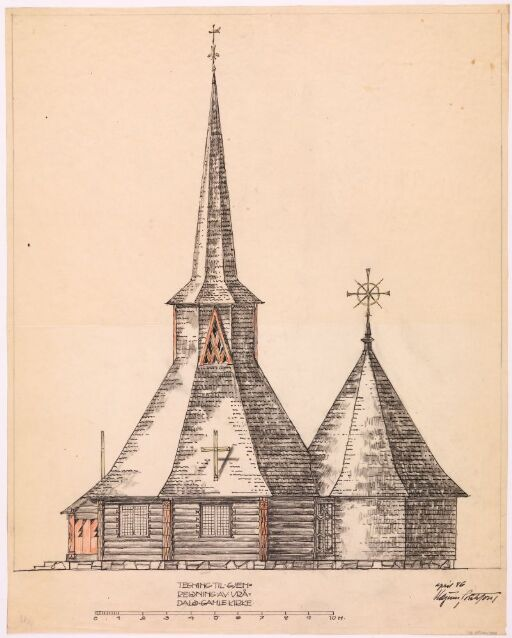 Gjenreisning av Vrådal kirke