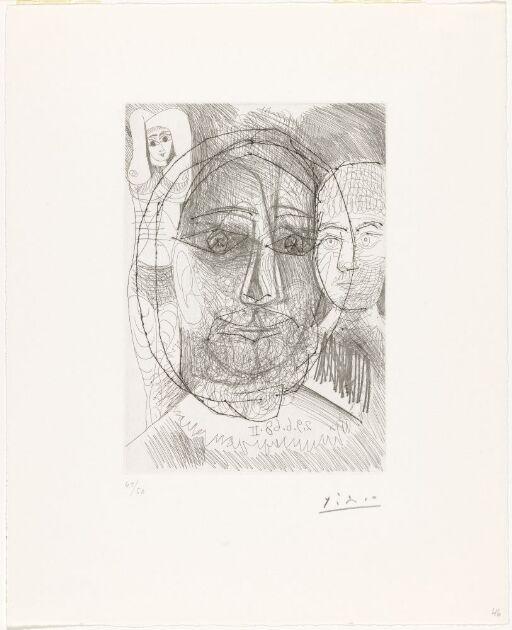 Mann, kvinne og barn. Studie til El Grecos portrett