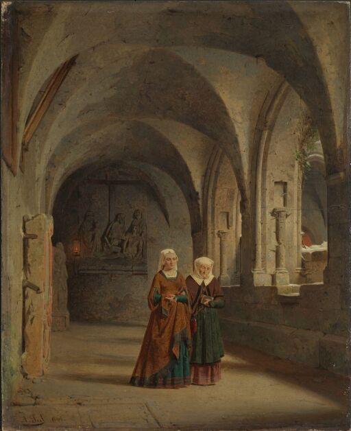 Korsgang ved et gotisk nonnekloster