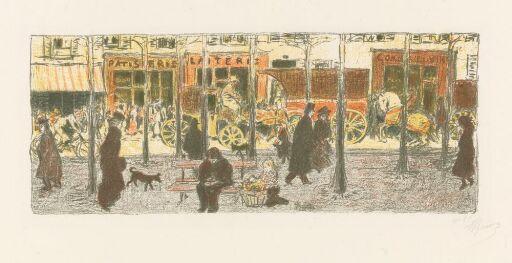 """Boulevard. Fra serien """"Quelque aspects de la vie de Paris"""""""