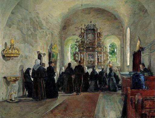 Altergang i Stange kirke