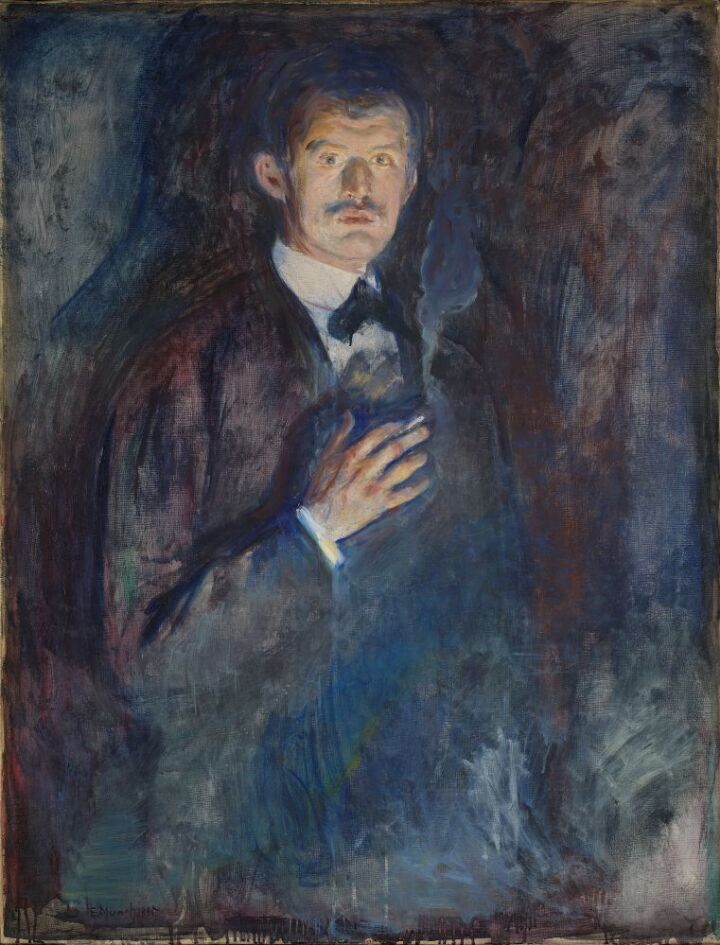 Edvard Munch, Self-Portrait with Cigarette – Nasjonalmuseet – Collection