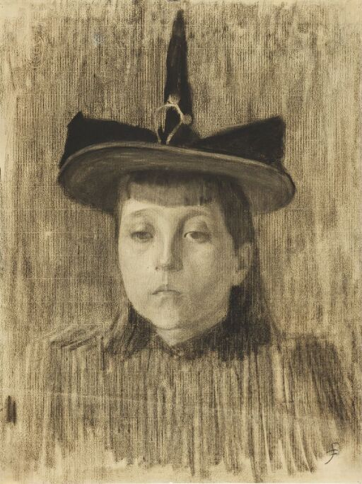 Ung jente med hatt