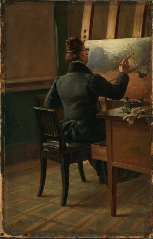The Painter J.C. Dahl at his Easel