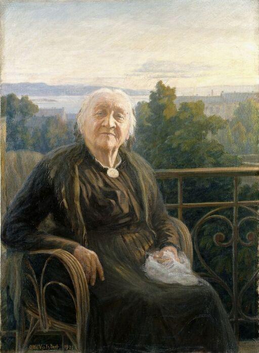 Portrait of Mrs Lina Bruun