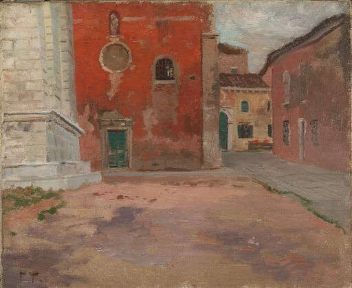 Red Church Wall in Venice