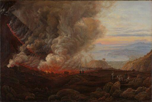 Vesuv i utbrudd. Kopi etter J.C. Dahl