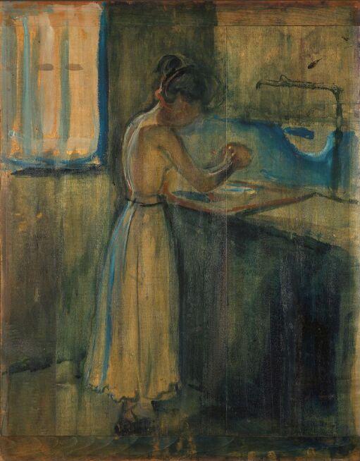 Young Woman Washing herself